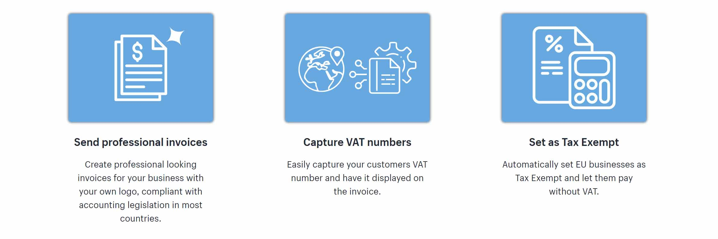digital vat invoice shopify features
