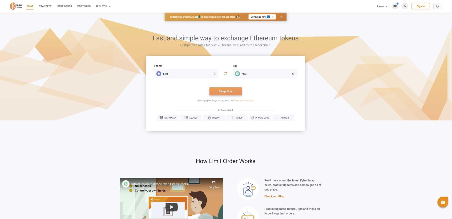 kyber exchange
