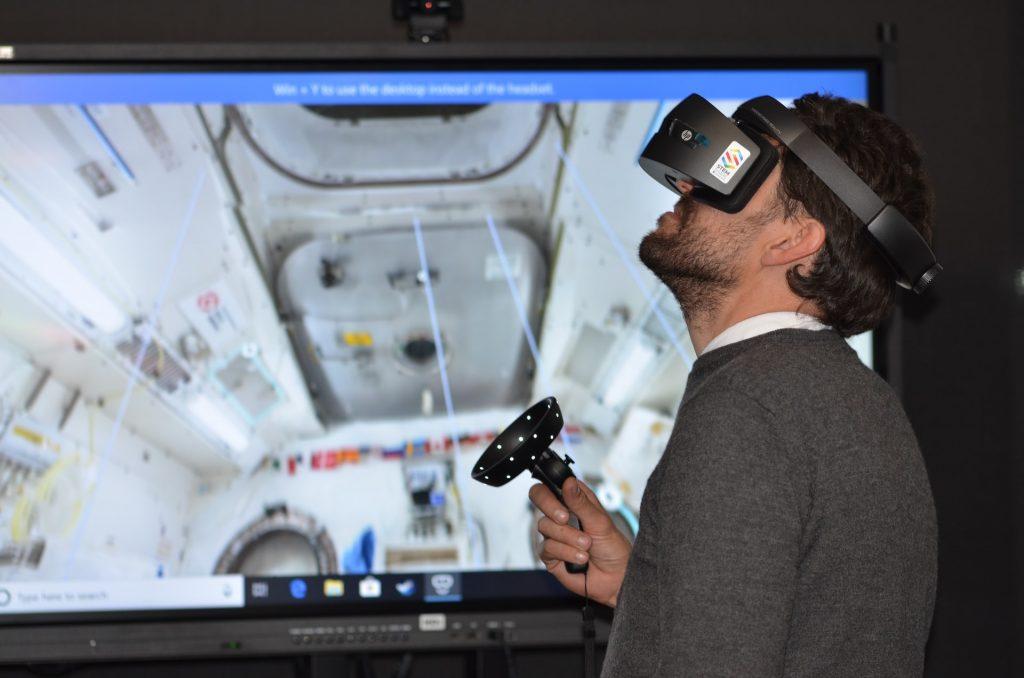 Man Testing Virtual Reality Device