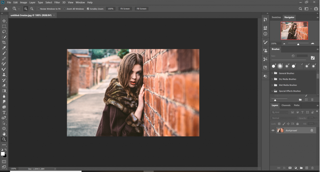how to flip an image in photoshop tutorial screenshot 1