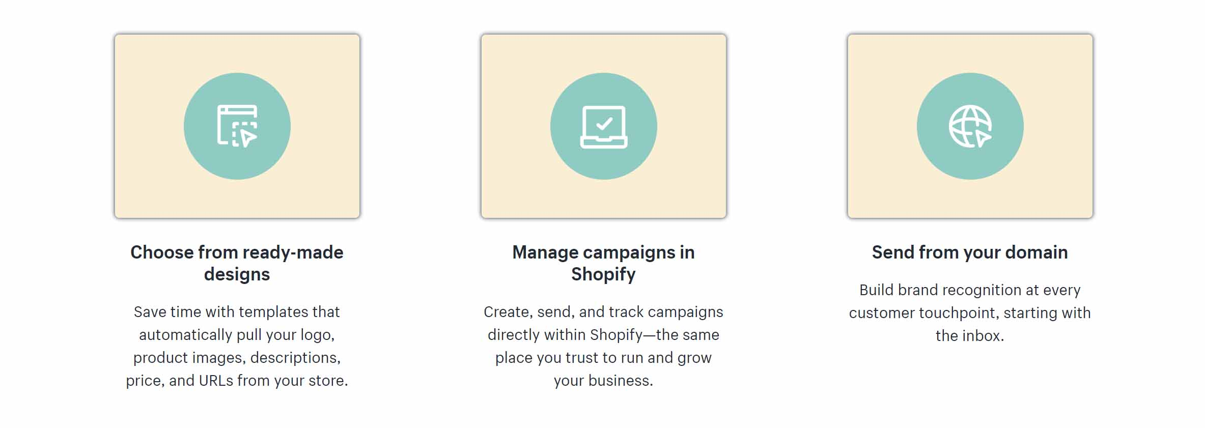 shopify email features
