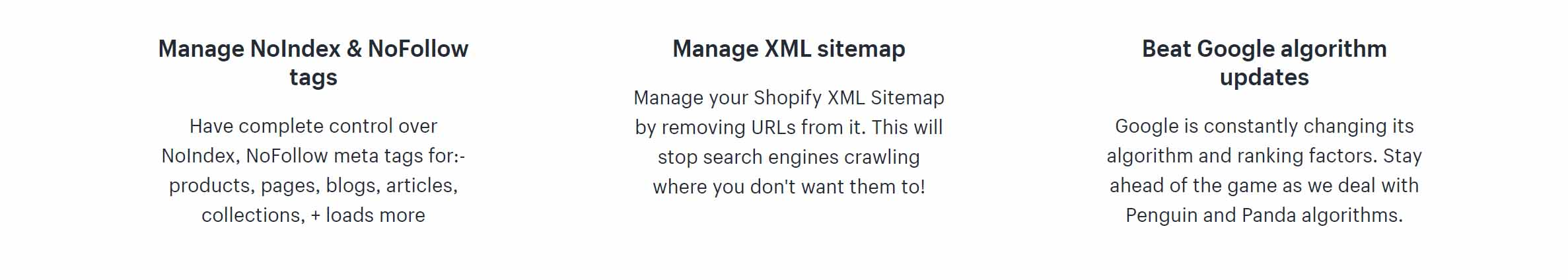 sitemap features