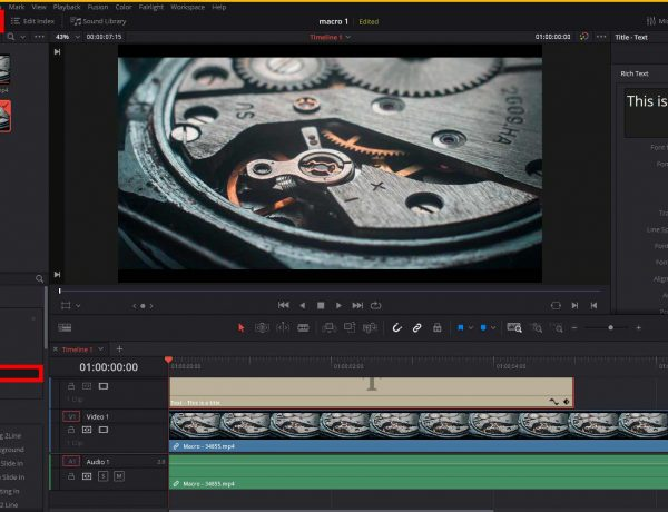 How To Add Text In DaVinci Resolve