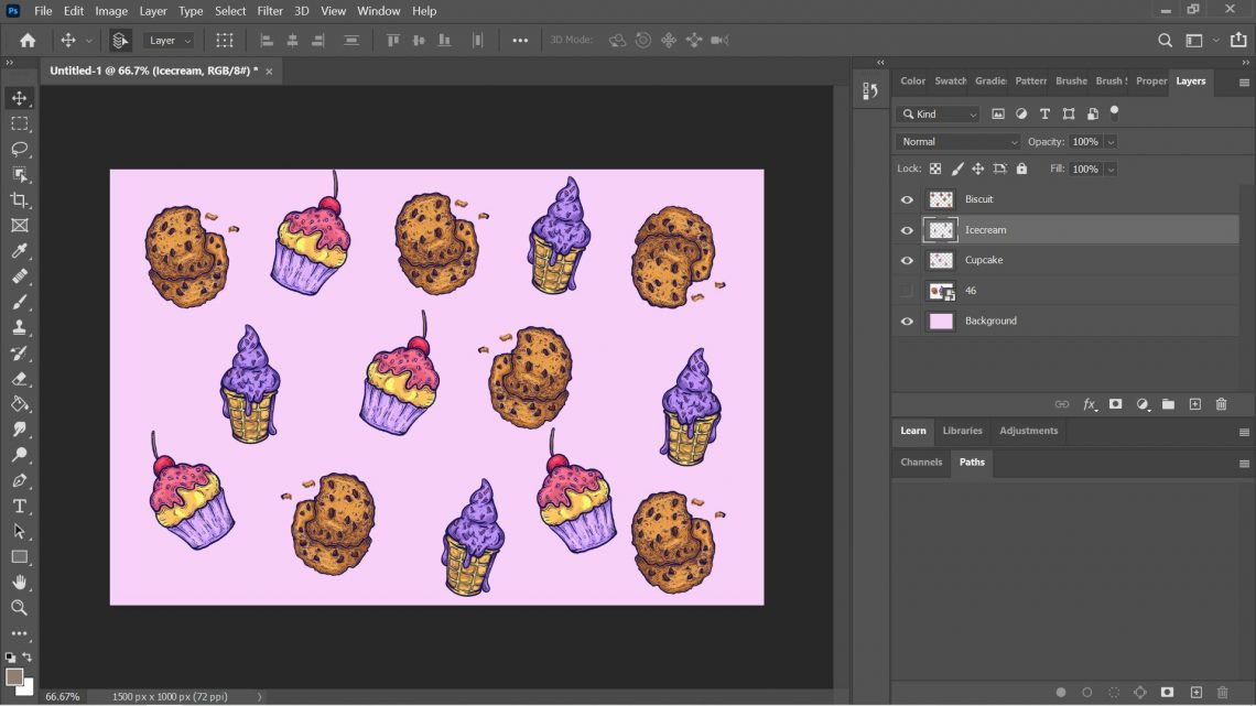 resize a layer in photoshop