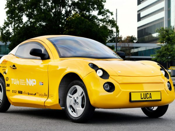 electric car built from recycled materials