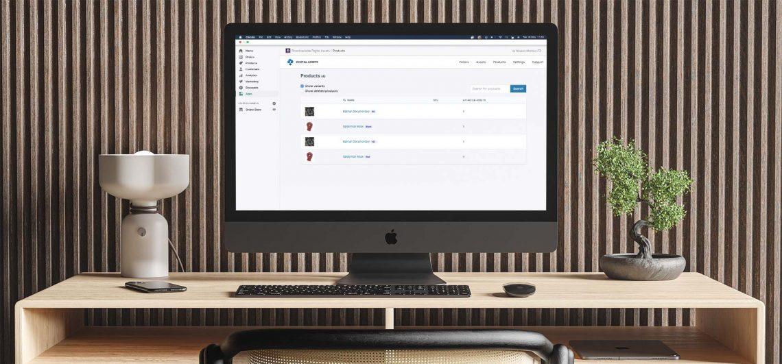 digital downloads app open on shopify mac