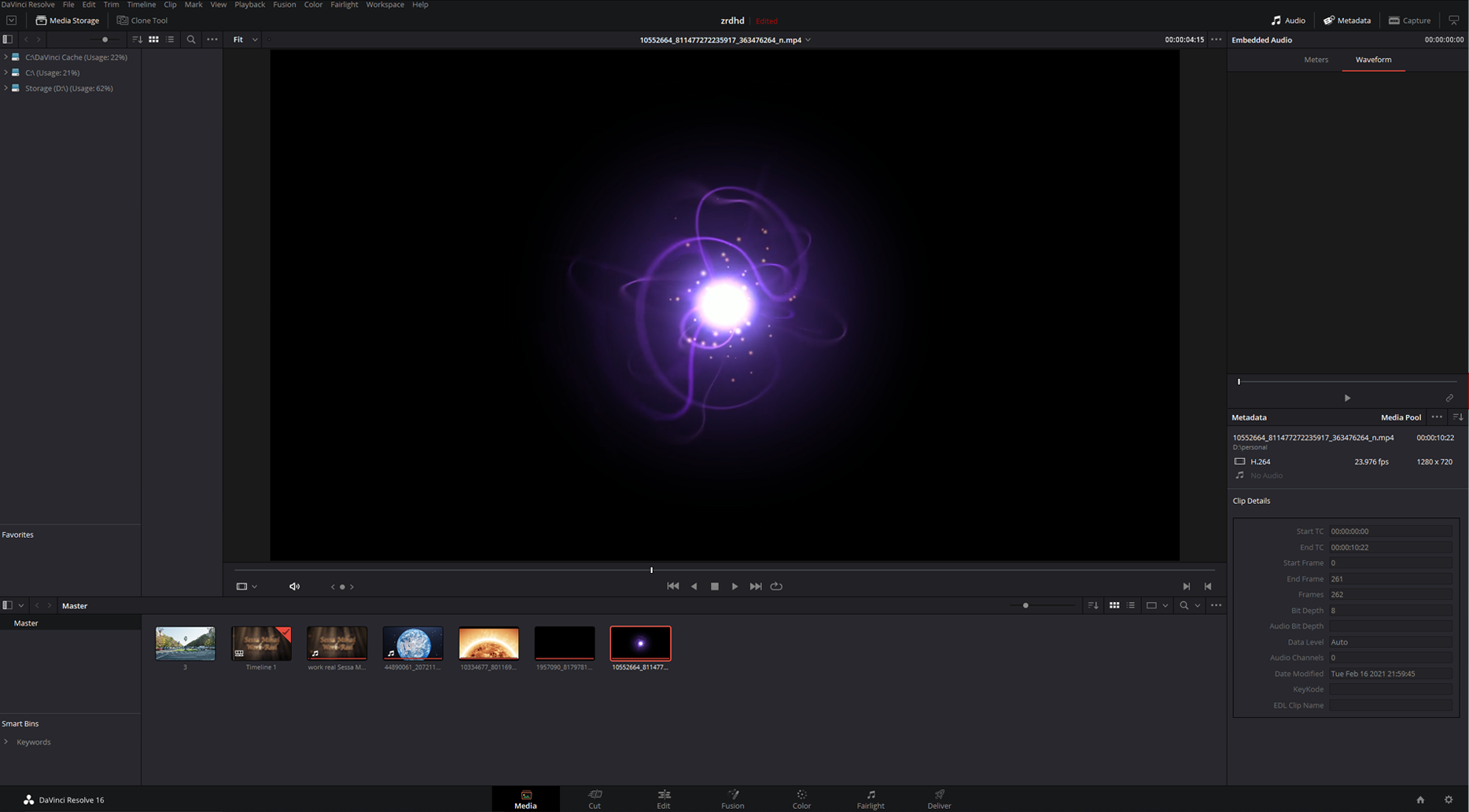 render DaVinci Resolve projects as mp4