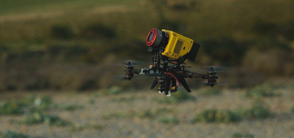 red komodo drone in the sky