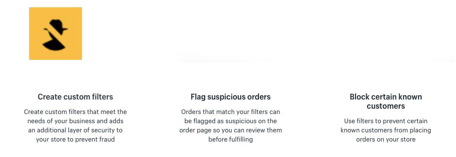 Fraud Filter Shopify App