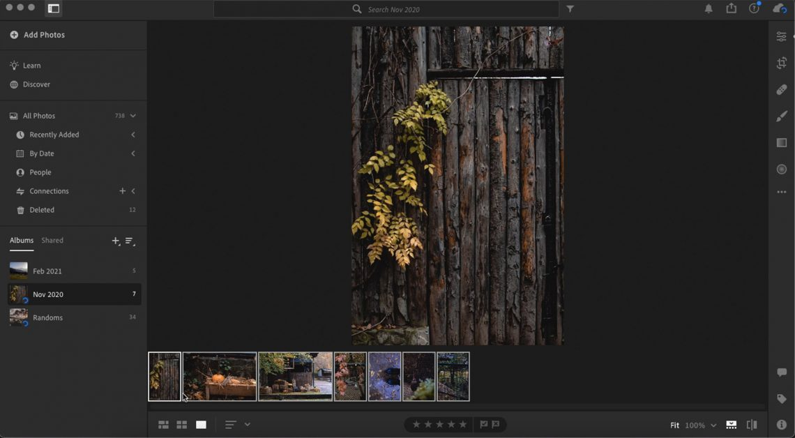 screenshot showing how to batch edit in lightroom