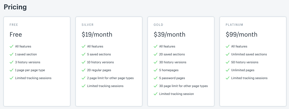 PageFly Builder pricing