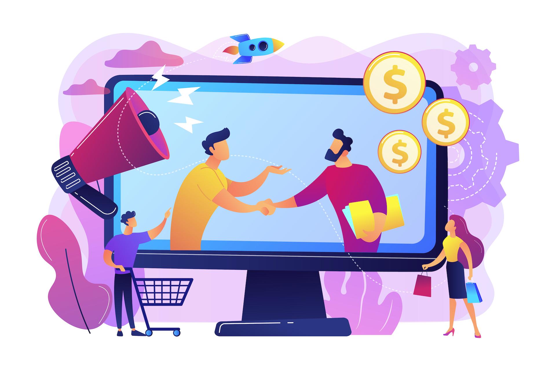 illustration representing affiliate marketing