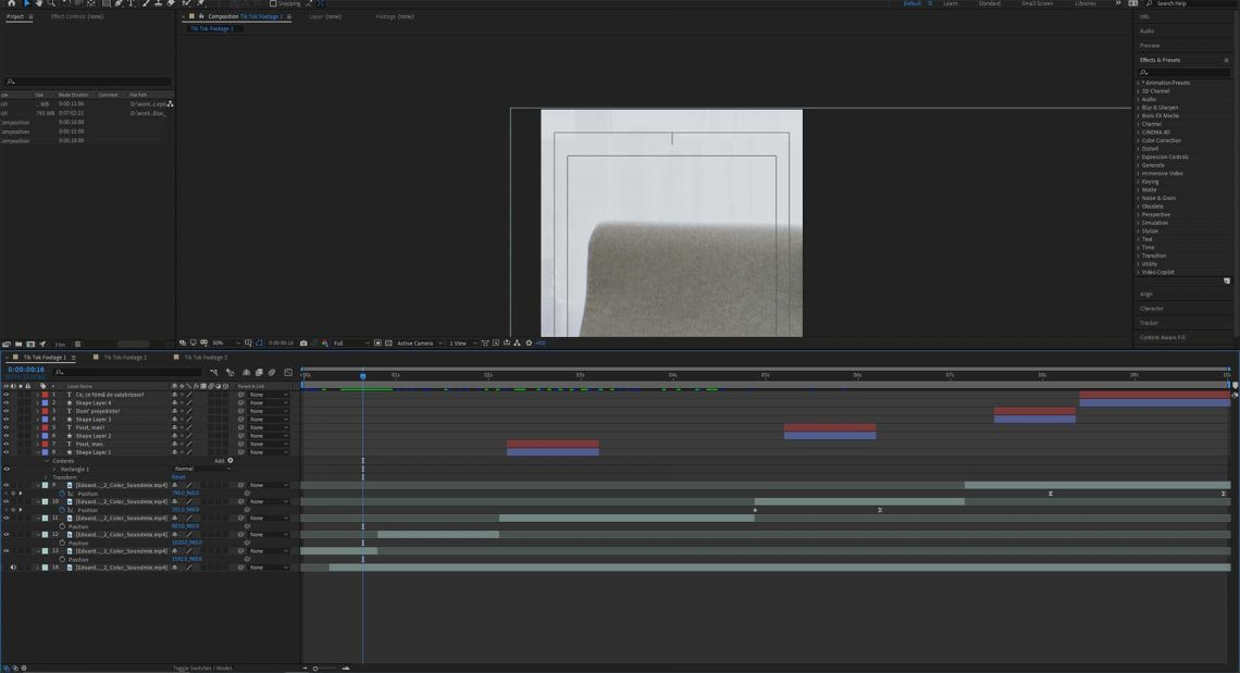 Split a clip in After Effects