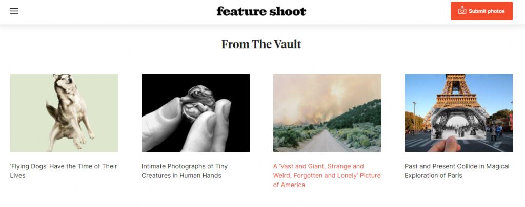 Feature Shoot website
