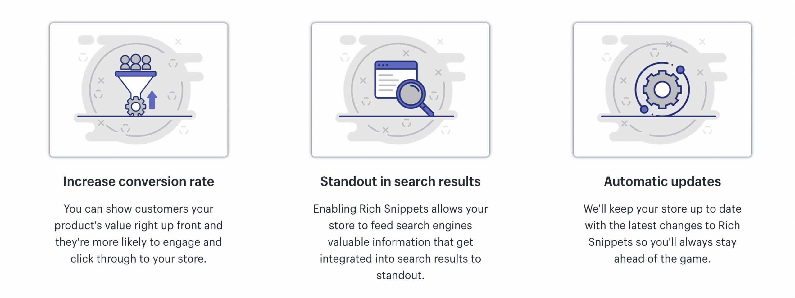 rich snippets feature shopify