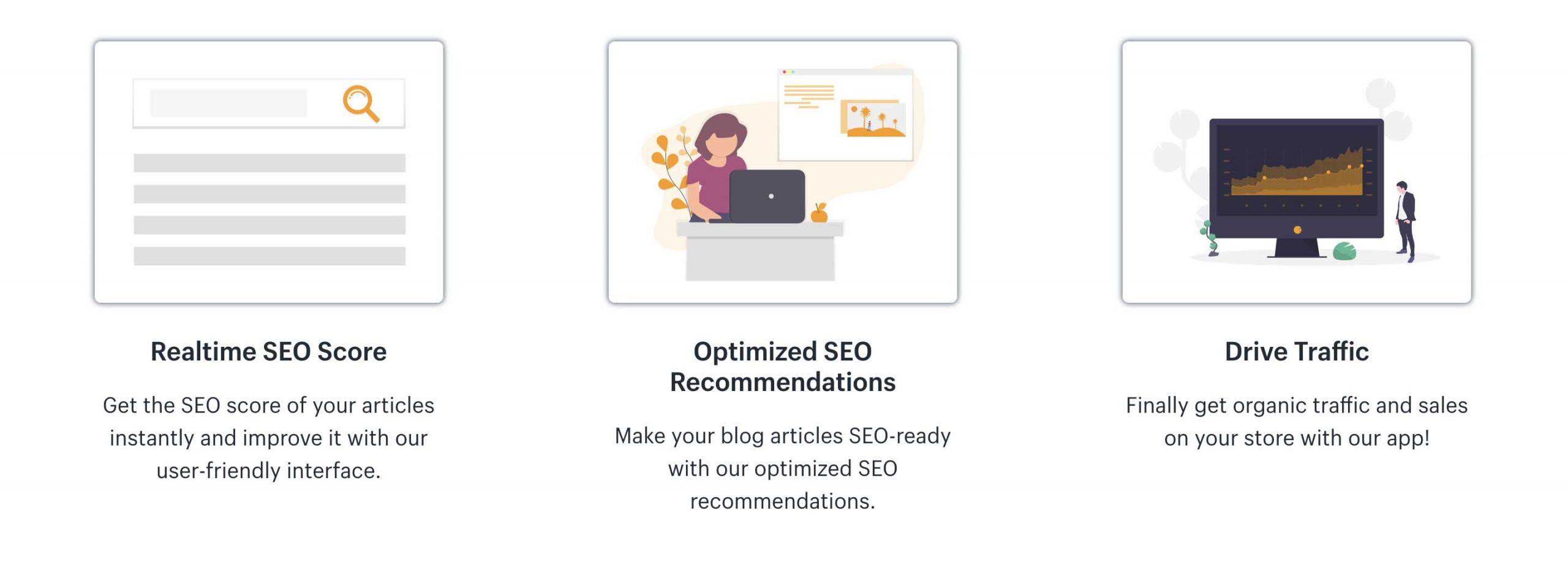seo blog optimizer features shopify