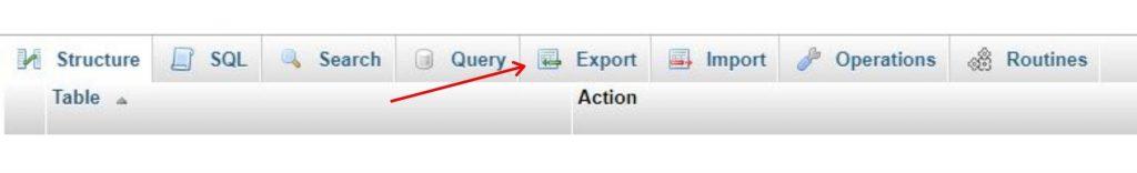 backup woocommerce database manually