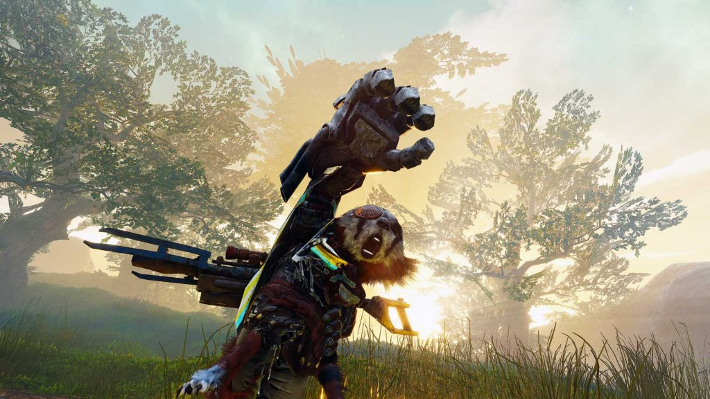 Biomutant showing off its mechanical arm