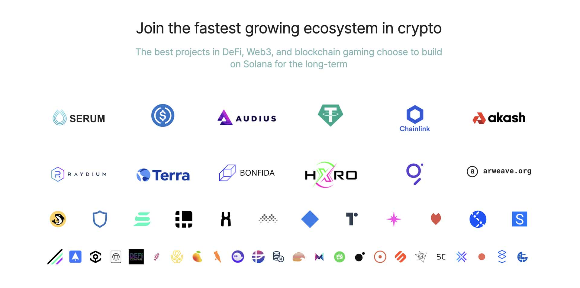 fastest growing system crypto solana