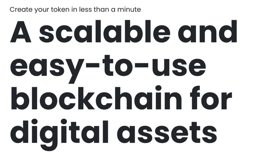 scalable and easy to use blockchain