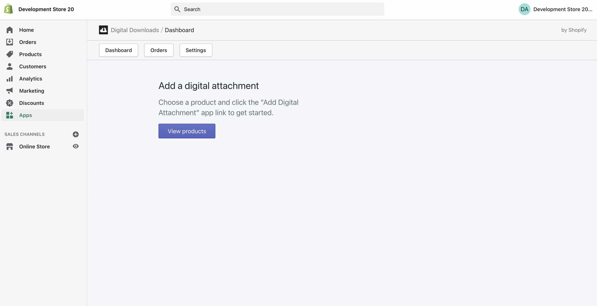 digital download dashboard