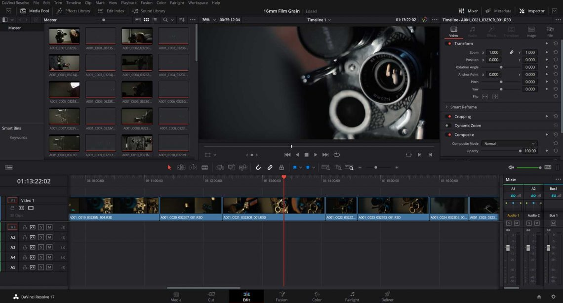free assets davinci resolve editing software