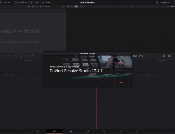 update davinci resolve dashboard