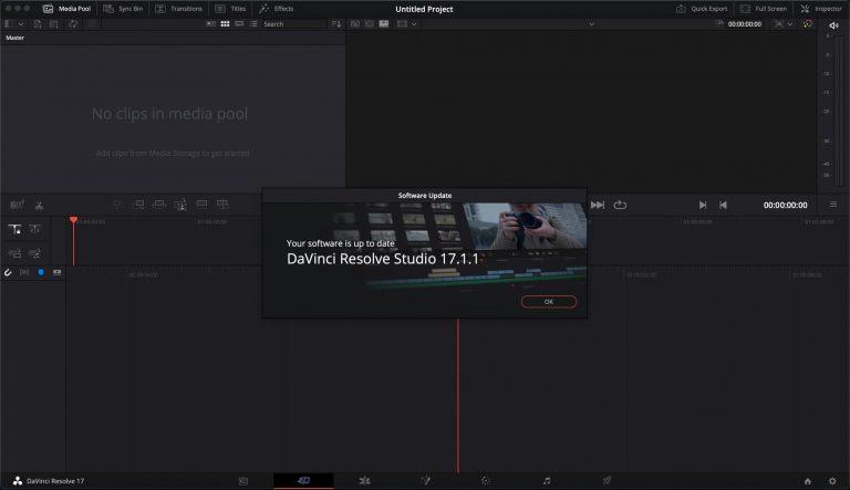 update davinci resolve dashboard