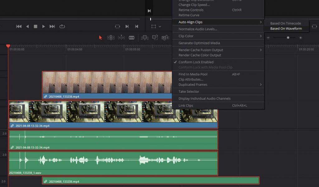 sync multiple cameras davinci resolve