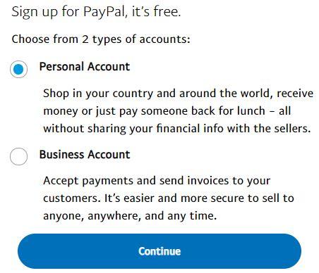 Setup a paypal sandbox account