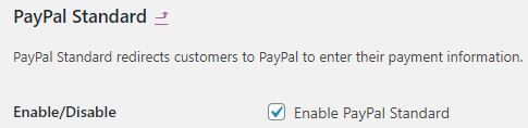 setup paypal standard gateway on a woocommerce website