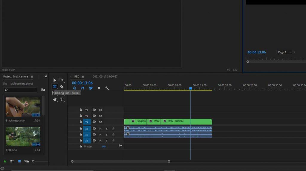 Rolling Edit Tool in Premiere Pro