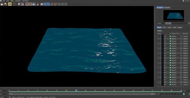 water cinema4d