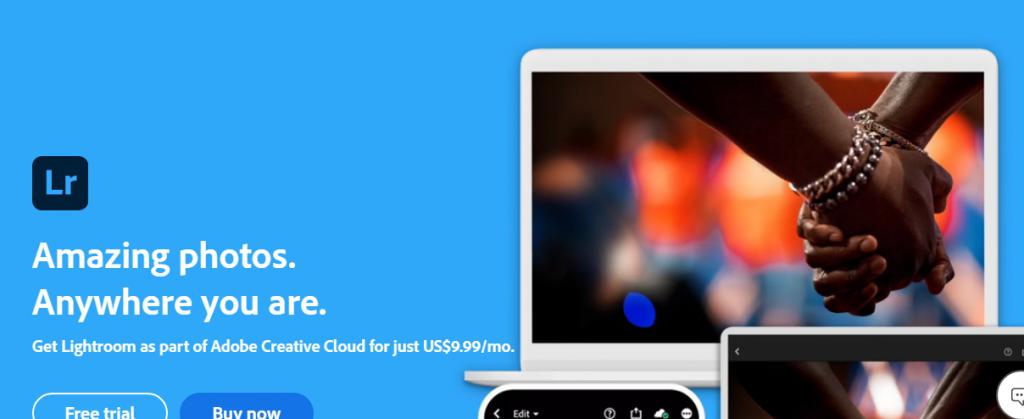 Adobe Lightroom Presets - Screenshot of Lightroom Home Page