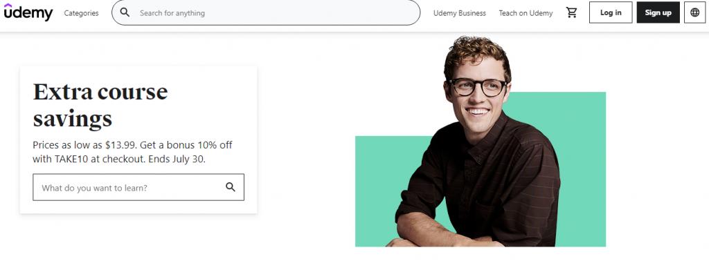 Online Courses - a screenshot of udemy.com