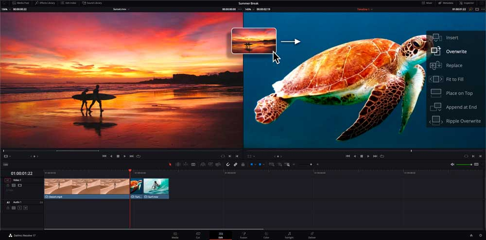 davinci resolve best free editing software