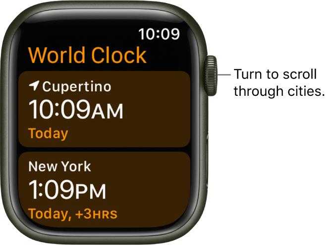 apple watch clock